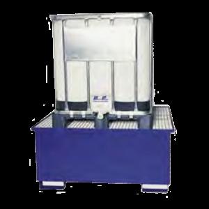 lekbak ibc container gelakt staal