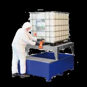 lekbak ibc container vulruimte gelakt staal