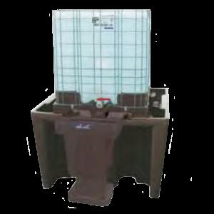 pe lekbak ibc container zonder plaat
